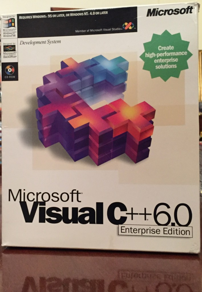 My original Visual C++ 6 box.